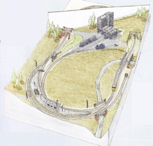 Peco Setrack OO Plan 18 - A Scottish Highland Layout Based Around The Traditional Oval
